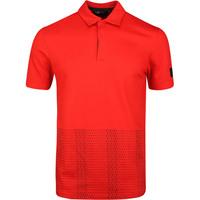 Image of adidas Golf Shirt - Adicross Novelty Print Polo - Red SS20