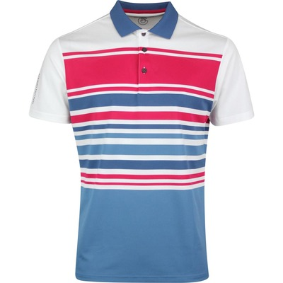 Galvin Green Golf Shirt Miguel White Barberry SS20