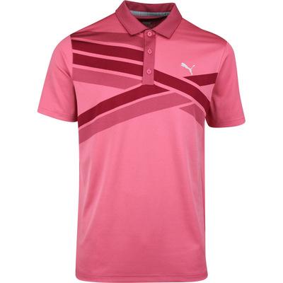 PUMA Golf Shirt Alterknit Texture Polo Rapture Rose SS20