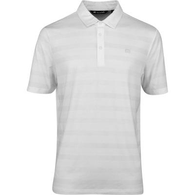 TravisMathew Golf Shirt Heater Stripe Polo White SS20