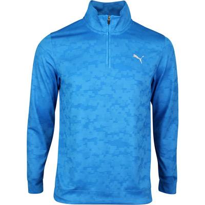 PUMA Golf Pullover Alterknit Digi Camo QZ Ibiza Blue SS20