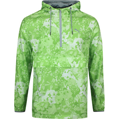 PUMA Golf Jacket TournAMENt Wind Hoodie Greenery Print LE SS20
