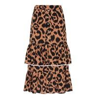 Midi Frill Silk Skirt - Ikat