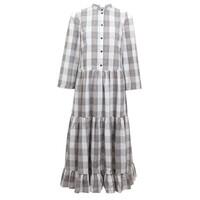 Alexine Organic Cotton Dress - Cream, Navy & Brown