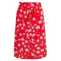 Elise Printed Silk Skirt - Simple Flowers