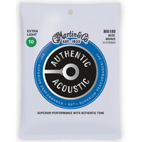 Martin Authentic Acoustic Bronze 12 Extra Light Guitar Strings