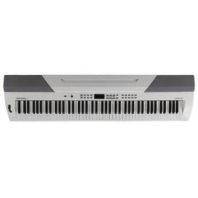 88 Key Stage Piano with White Finish