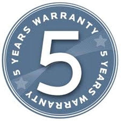 5 year on-site warranty for 45