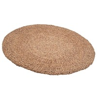 Pacific Lifestyle &pipe; Woven Light Brown Water Hyacinth Round Rug