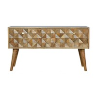 Artisan Furniture &pipe; Small Tiled Bench With 2 Drawers