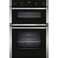 Neff N50 U1ACE2HN0B Double Built In Electric Oven, Stainless Steel