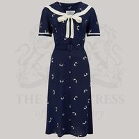 Image of Patti Dress - Navy Blue Doggy Print, 12