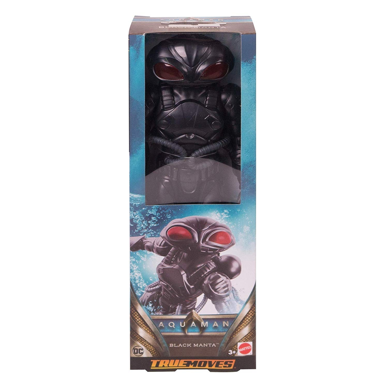 AQUAMAN TRUE-MOVES BLACK MANTA 12 Inch Figure