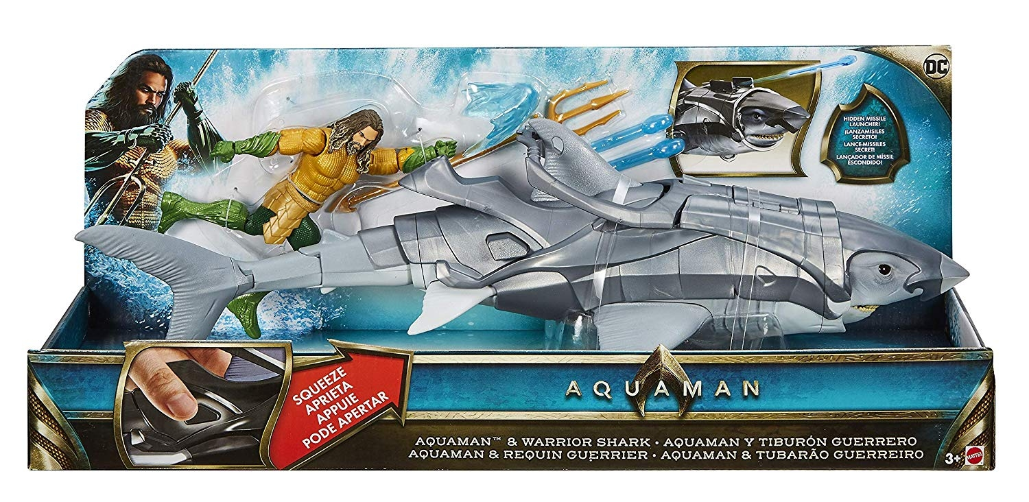 Aquaman And Warrior Shark 6-inch Figure And Creature Pack