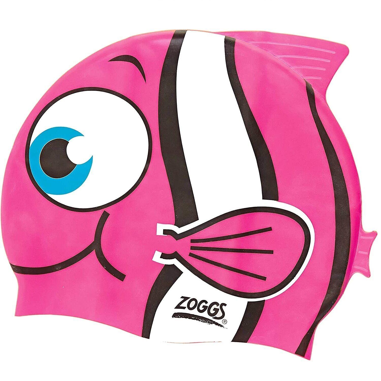 Kids Character Swimming Cap 6-14 years - Choose your design - Pink Goldfish