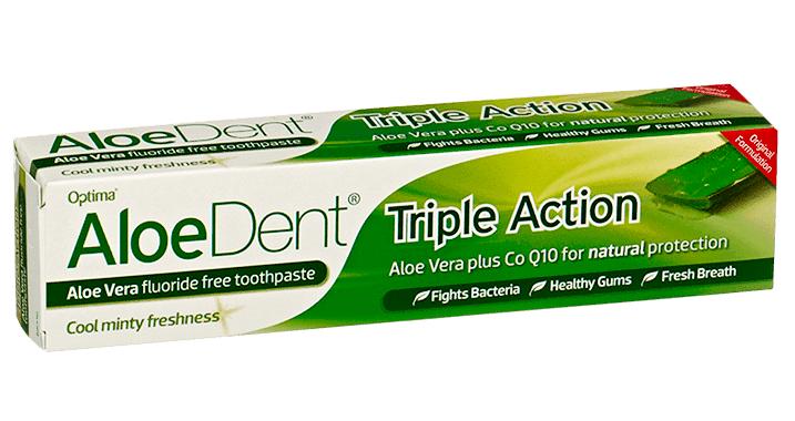 AloeDent Aloe Vera Triple Action Toothpaste 100ml