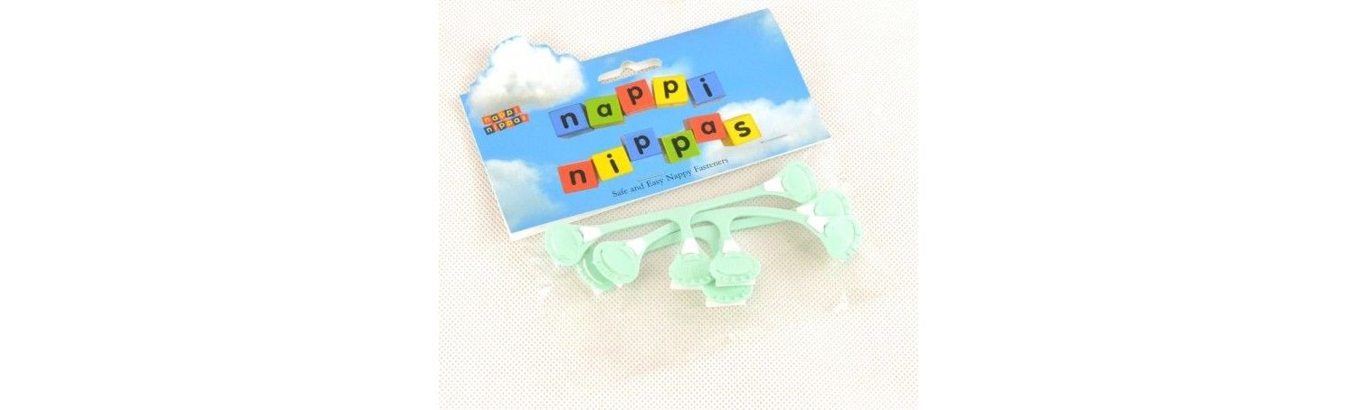 Nappi Nippas Nappy Fastener 3 Pack - Choose your colour - Green