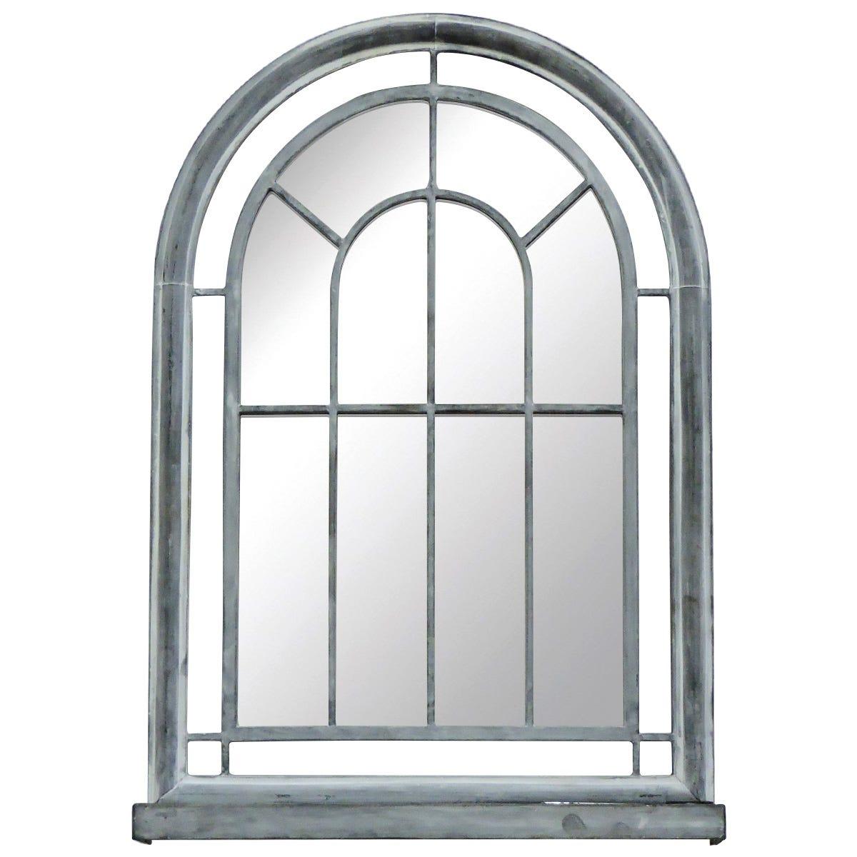 Charles Bentley Premium Arched Grey Vintage Mirror