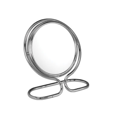 10x Magnification Fold Flat Mirror in Chrome