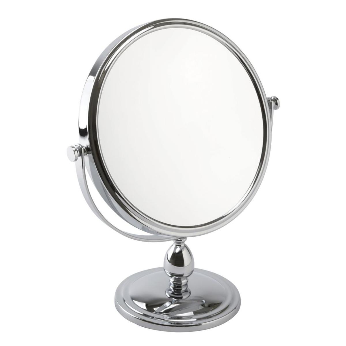 10x Magnification Pedestal Mirror in Chrome