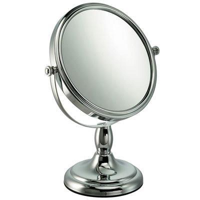 10x Magnification Mirror in Chrome Finish with Short Stem