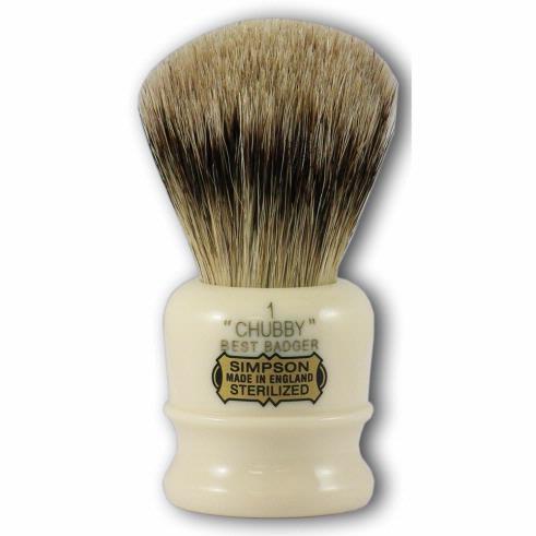 Simpsons Chubby 1 Best Badger Hair Shaving Brush