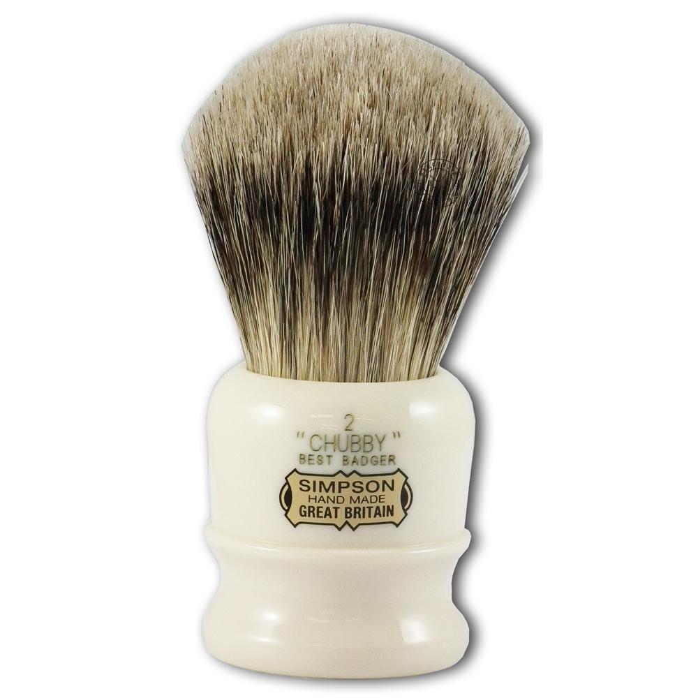 Simpsons Chubby 2 Best Badger Hair Shaving Brush