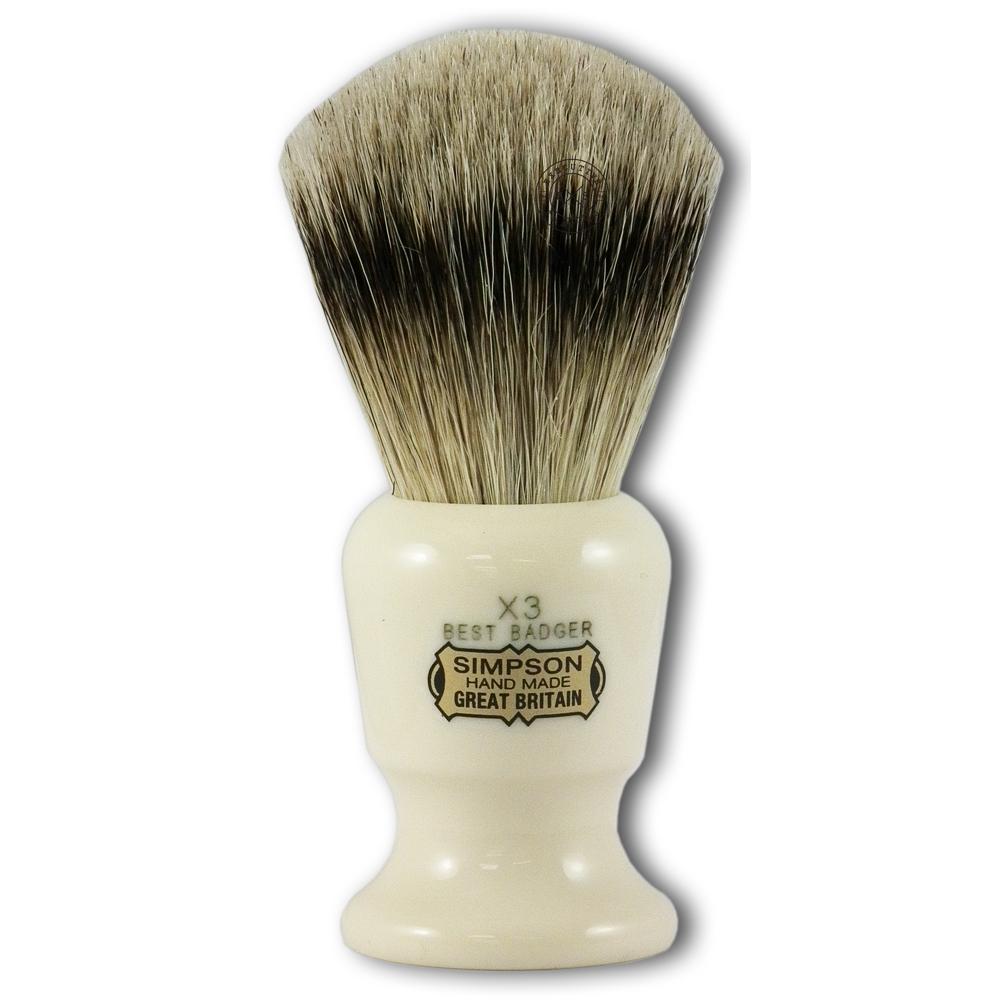 Simpsons Commodore X3 Best Badger Hair Shaving Brush