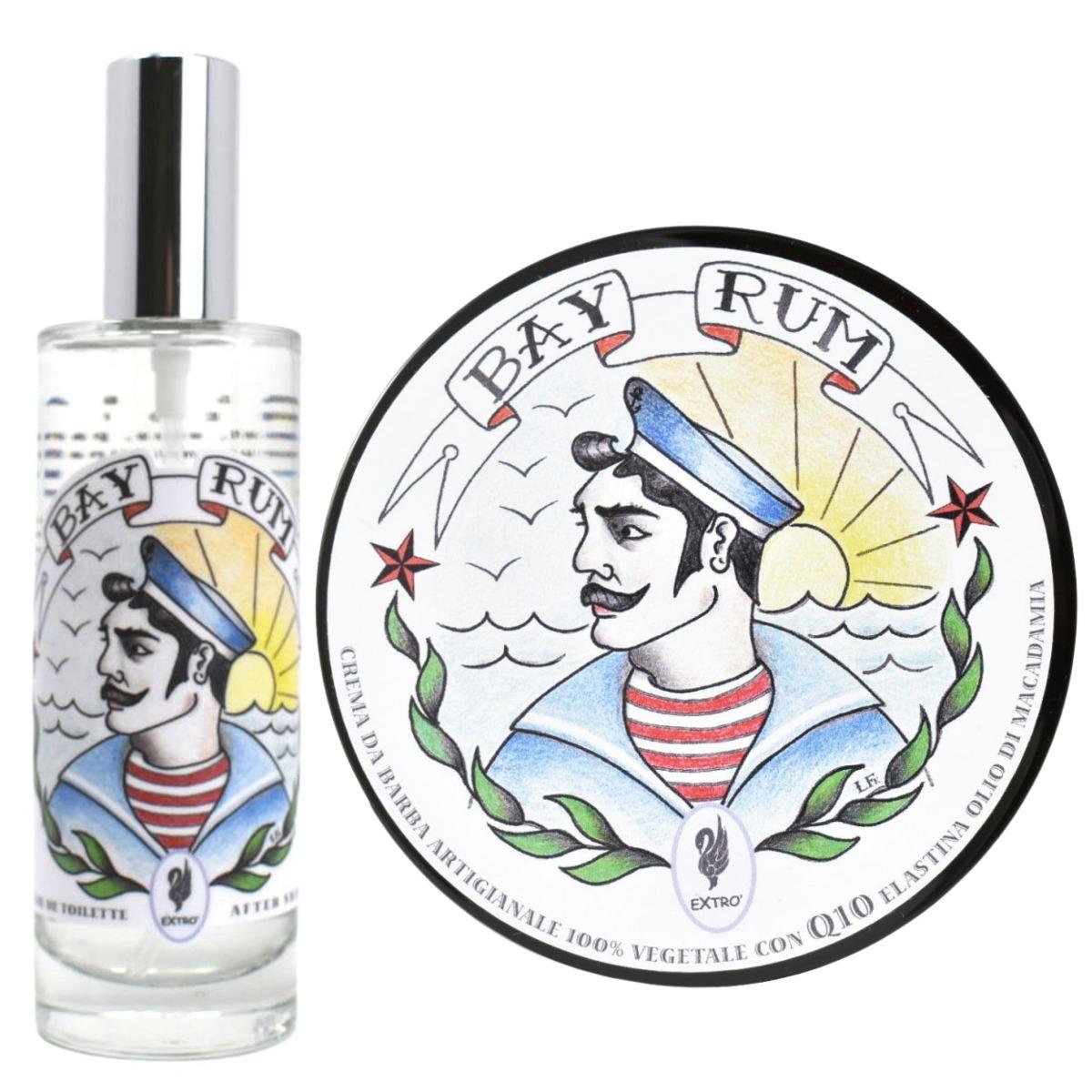Extro Cosmesi Bay Rum Shaving Cream & Aftershave Set