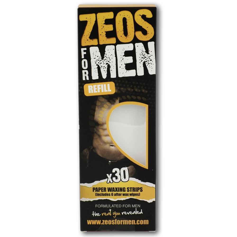 Zeos For Men Paper Waxing Strips (30)