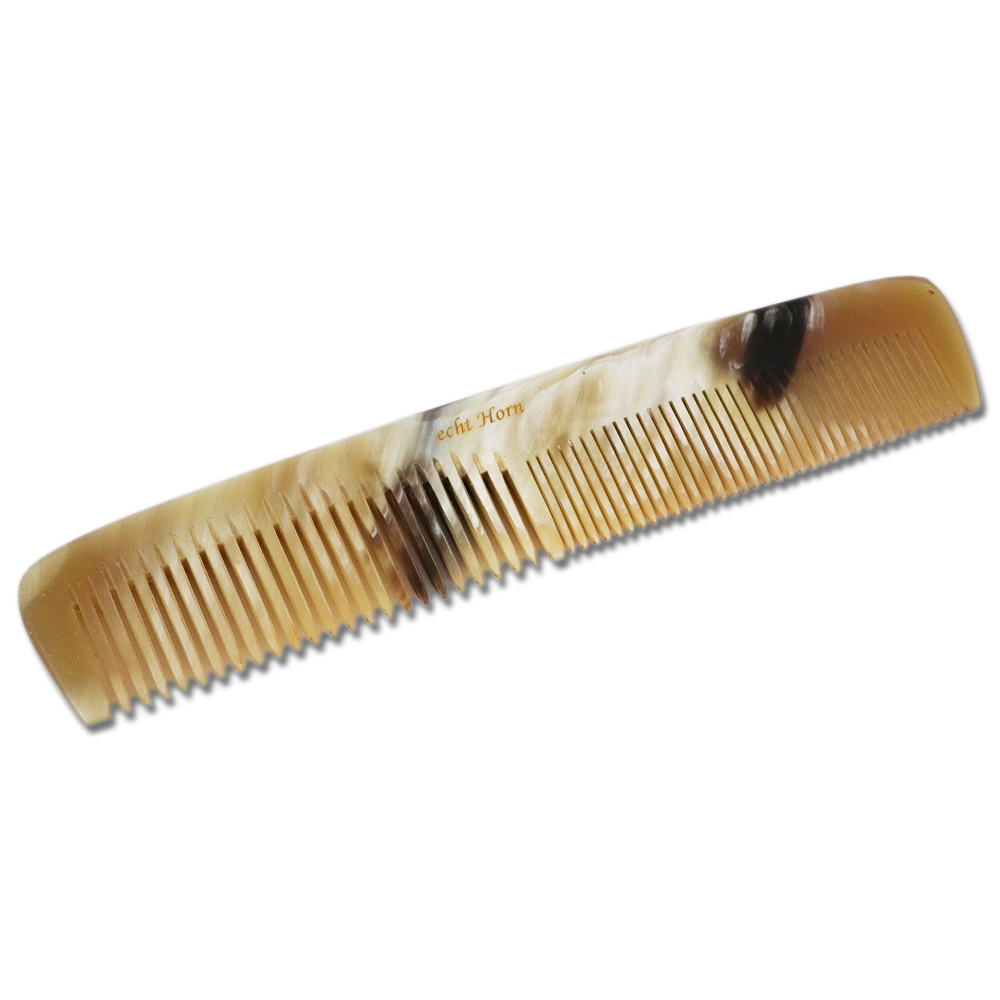 Real Horn 5.5 Inch Coarse/Fine Hair Comb