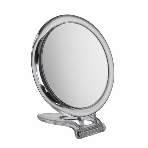 10x Magnification Circular Acrylic Folding Compact Travel Mirror
