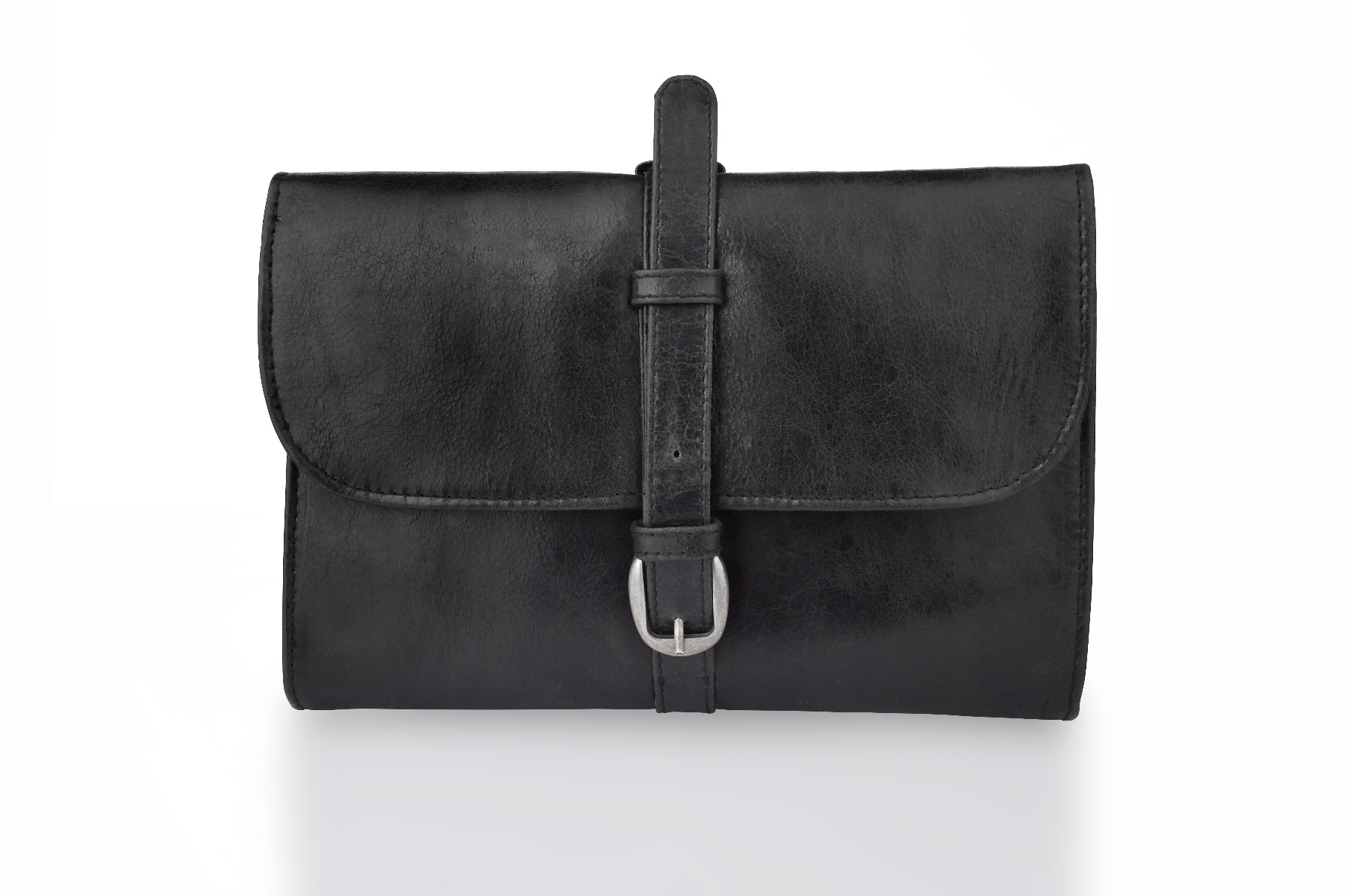 Woodland Leathers Black Leather Military Wet Pack