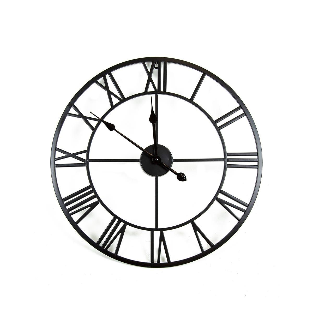 Charles Bentley Indoor Wall Clock Matte Black 60cm