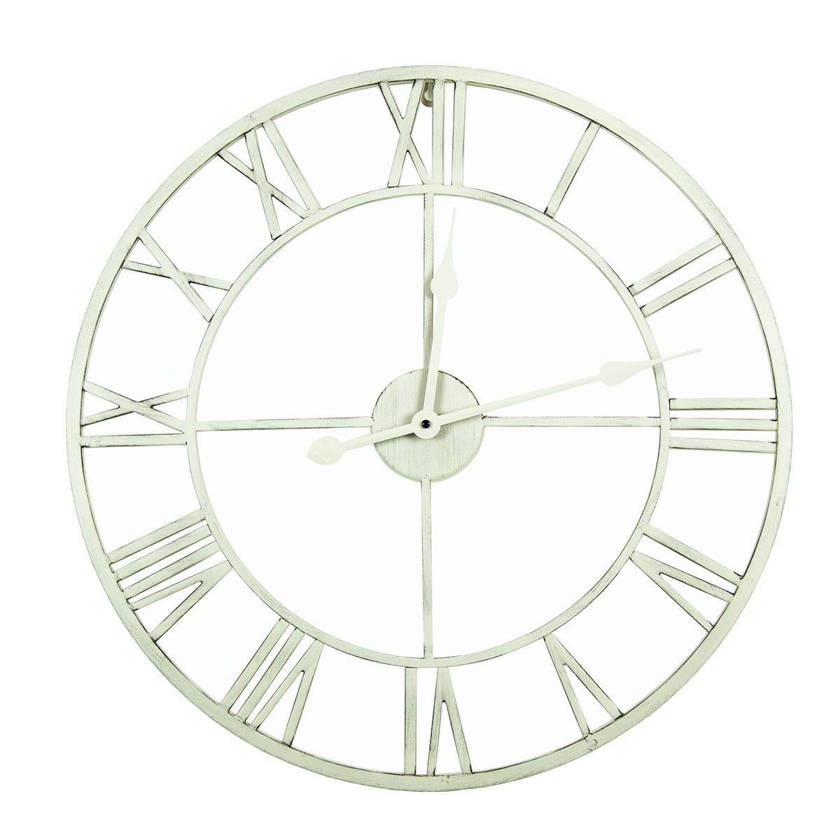 Charles Bentley Indoor Wall Clock Cream 80cm