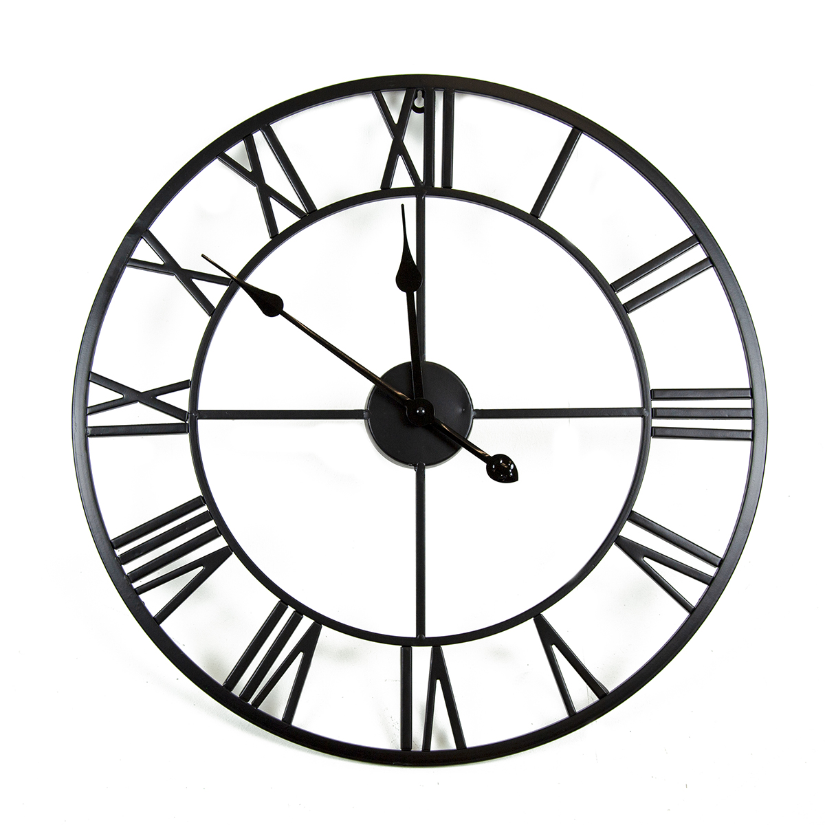 Charles Bentley Indoor Wall Clock Matte Black 80cm