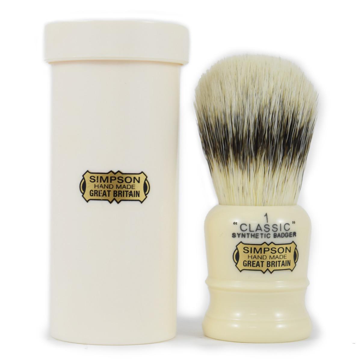 Simpson Classic 1 Synthetic Travel Shaving Brush