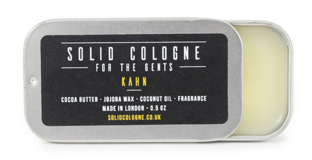 Solid Cologne Kahn Scent 0.5oz in Travel Tin