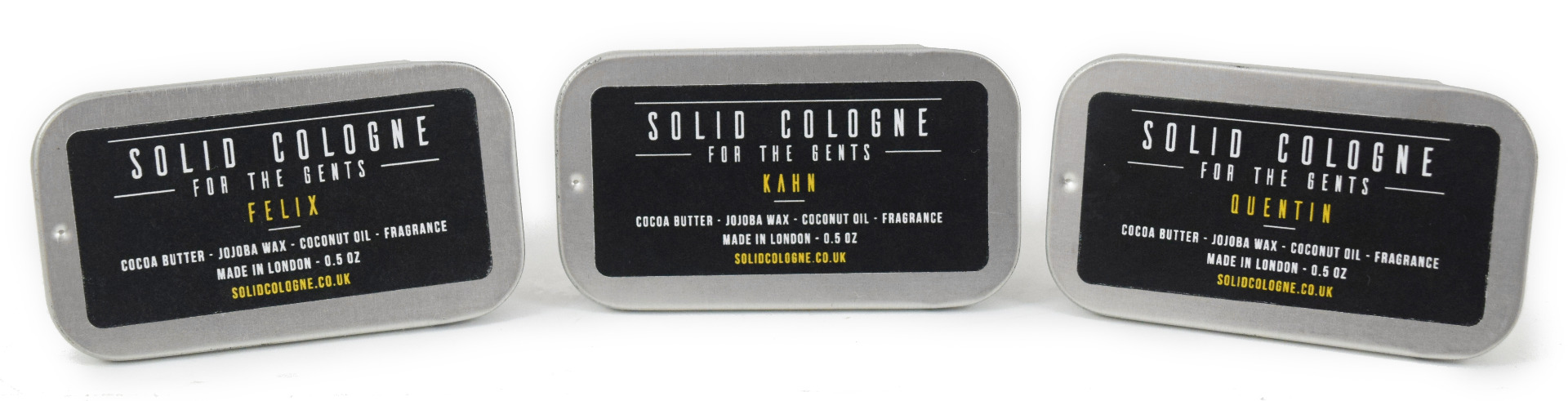 Solid Cologne Trio of Scents Felix, Quentin And Khan