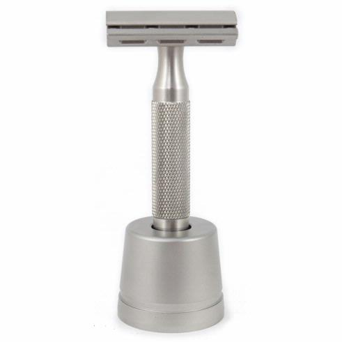 Rockwell 6S Adjustable Stainless Steel Safety Razor And Stand
