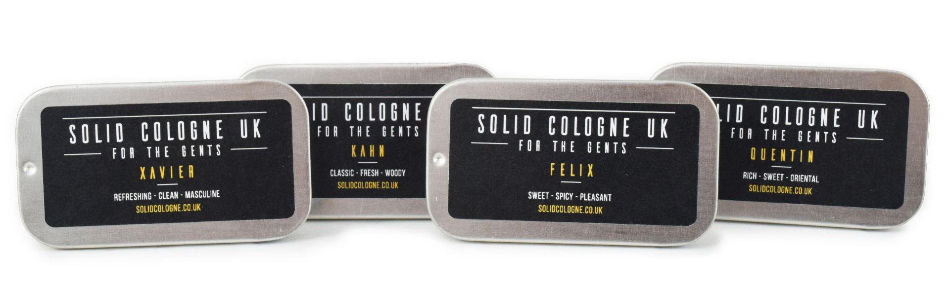 Solid Cologne Quad of Scents Felix, Quentin, Kahn And Xavier
