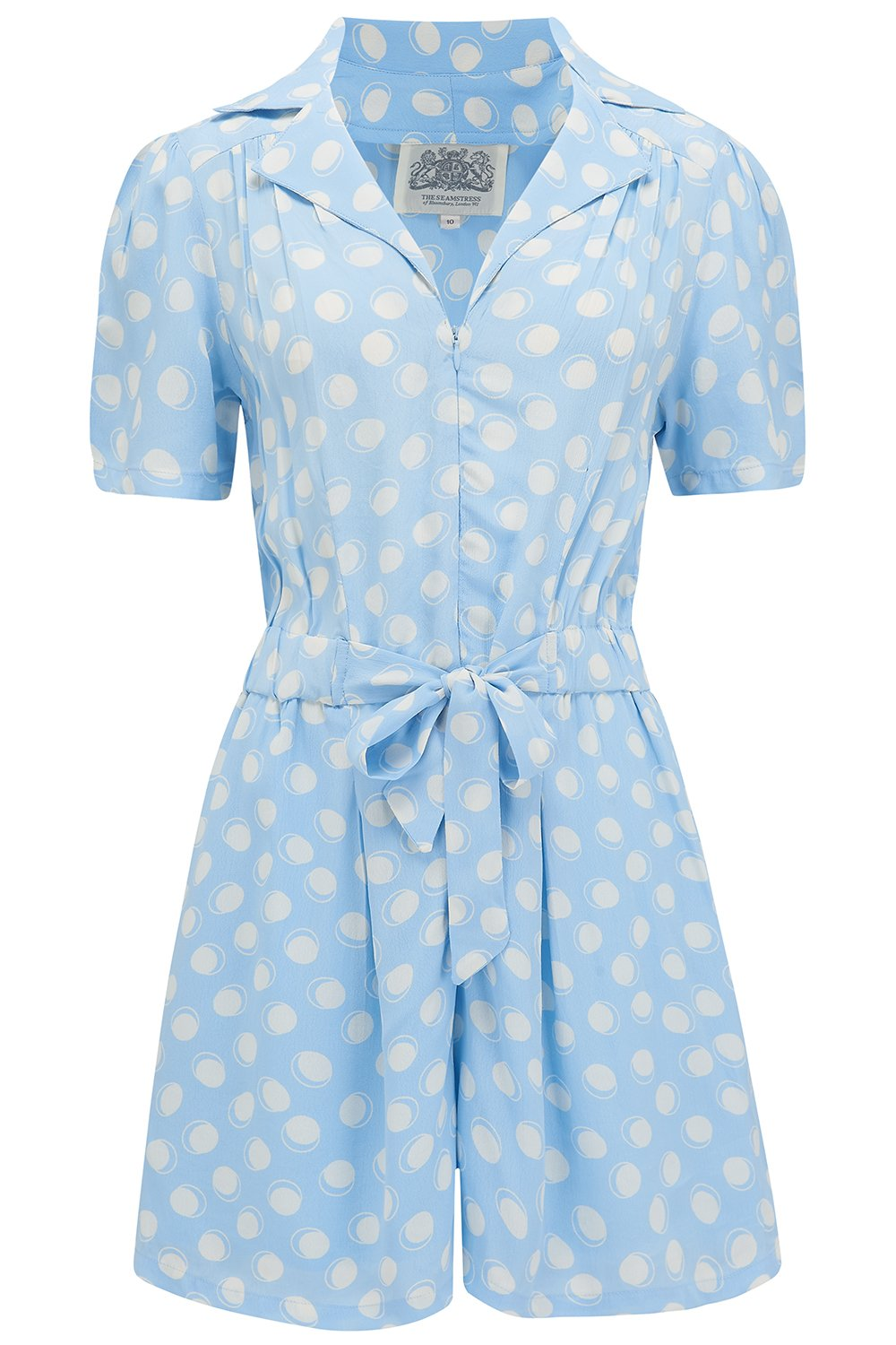 40s-50s Vintage Playsuits, Jumpsuits, Rompers History Emma Playsuit  Powder Sky Blue Moonshine by The Seamstress of Bloomsbury Classic 1940s Vintage Style £79.01 AT vintagedancer.com