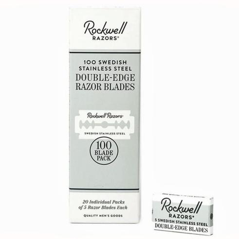 Rockwell 100 Double Edge Safety Razor Blades Trade Pack