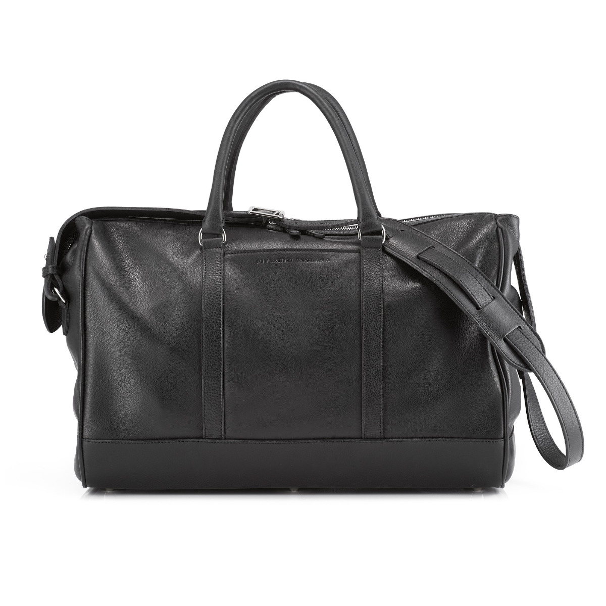 Daines And Hathaway Finsbury Black Leather Overnight Bag