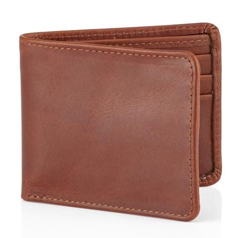 Daines And Hathaway Brooklyn Chestnut Brown Leather Wallet