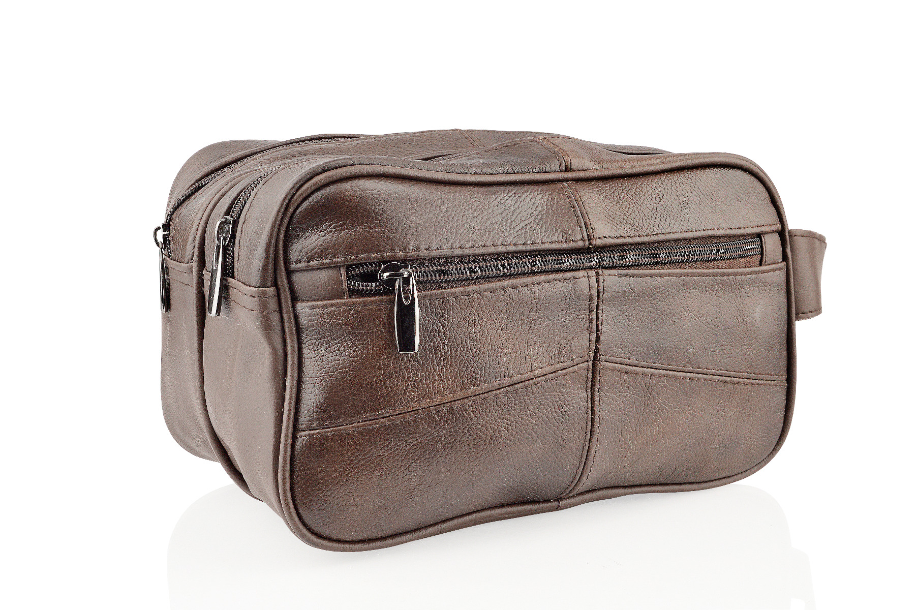 Woodland Leathers Brown Wash Bag