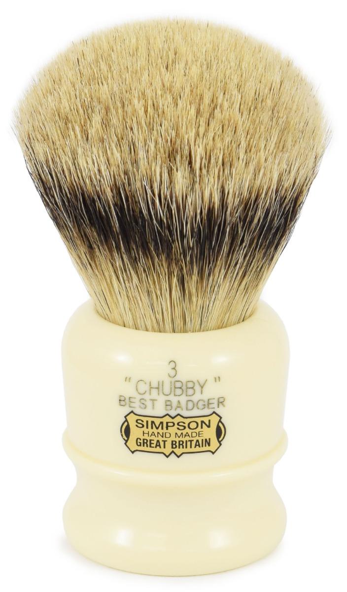 Simpsons Chubby 3 Best Badger Hair Shaving Brush