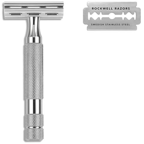 Rockwell 2C Safety Razor with 2 Settings White Chrome