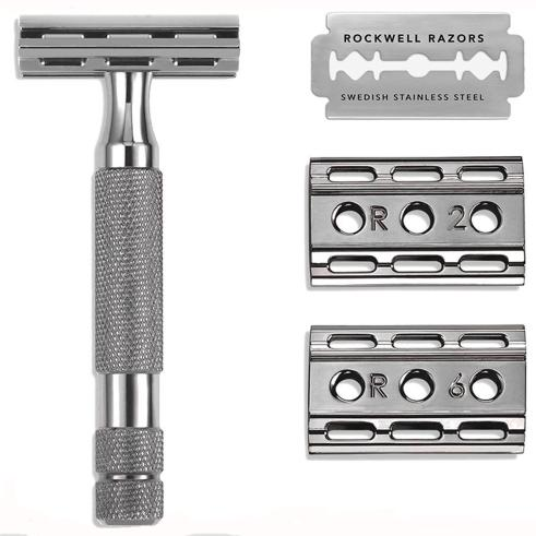 Rockwell 6C Gunmetal Safety Razor with 6 Settings