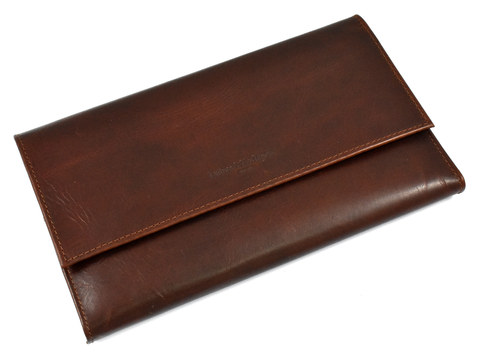 Daines and Hathaway Brooklyn Chestnut Brown Leather Travel Wallet